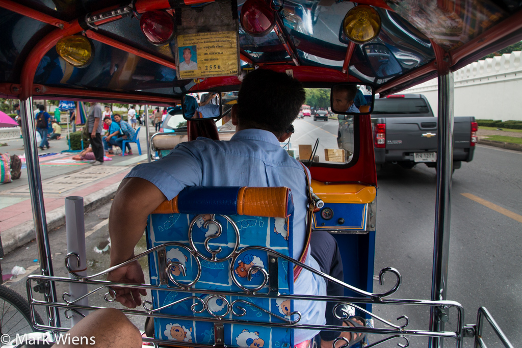 Taking a tuk tuk in Thailand
