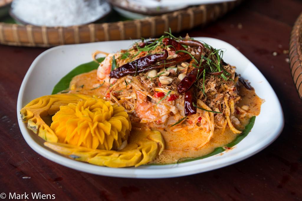yam hua pli (ยำถั่วพลู banana blossom salad)