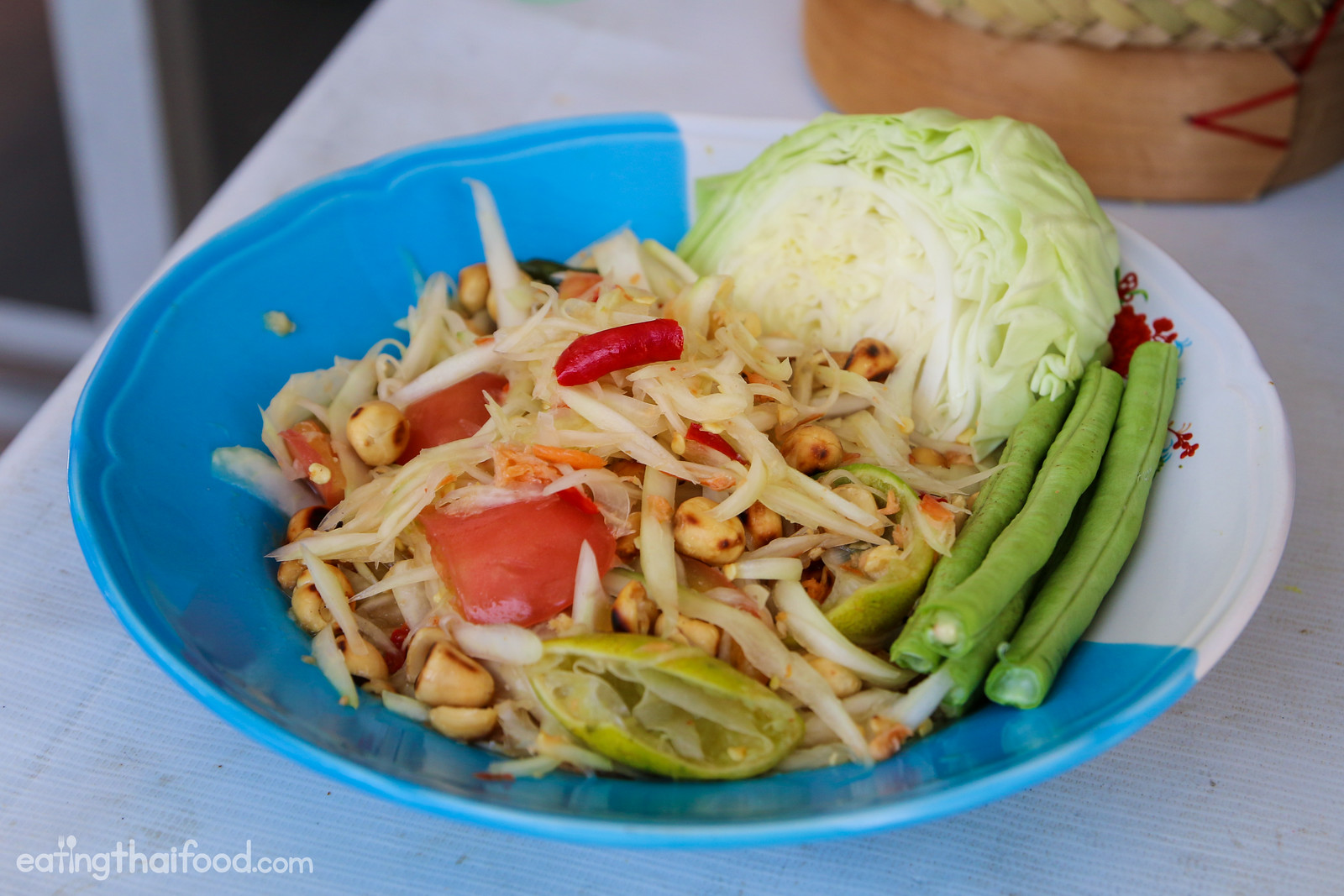 how to make thai green papaya salad