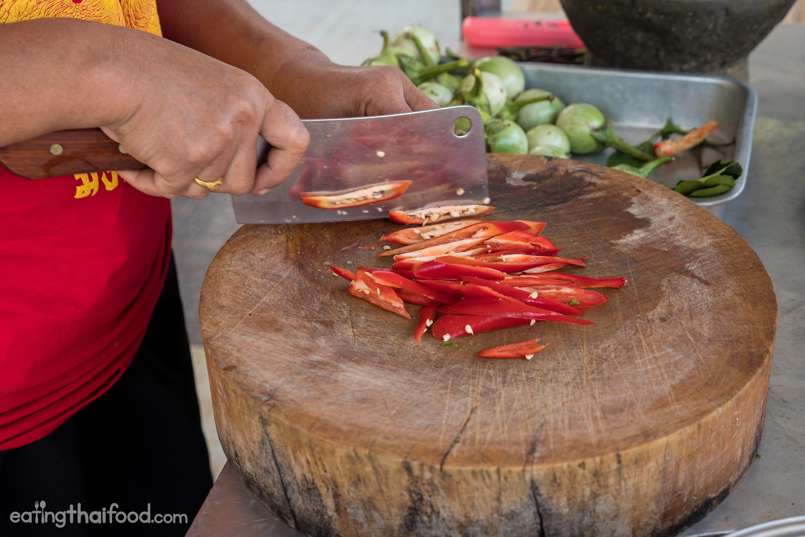 Thai red spur chilies