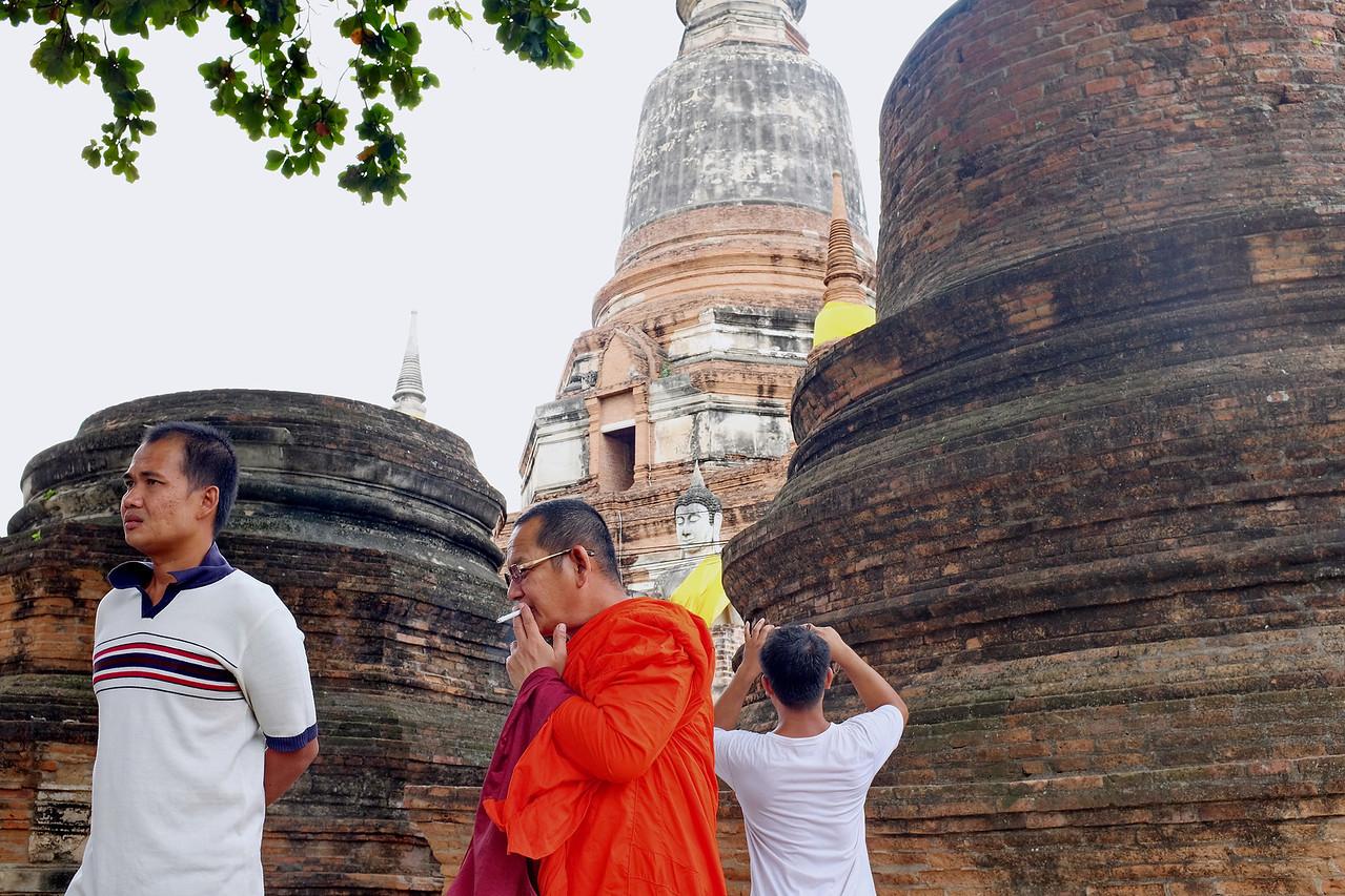 Scene at Wat Yai Chaya Mongkol
