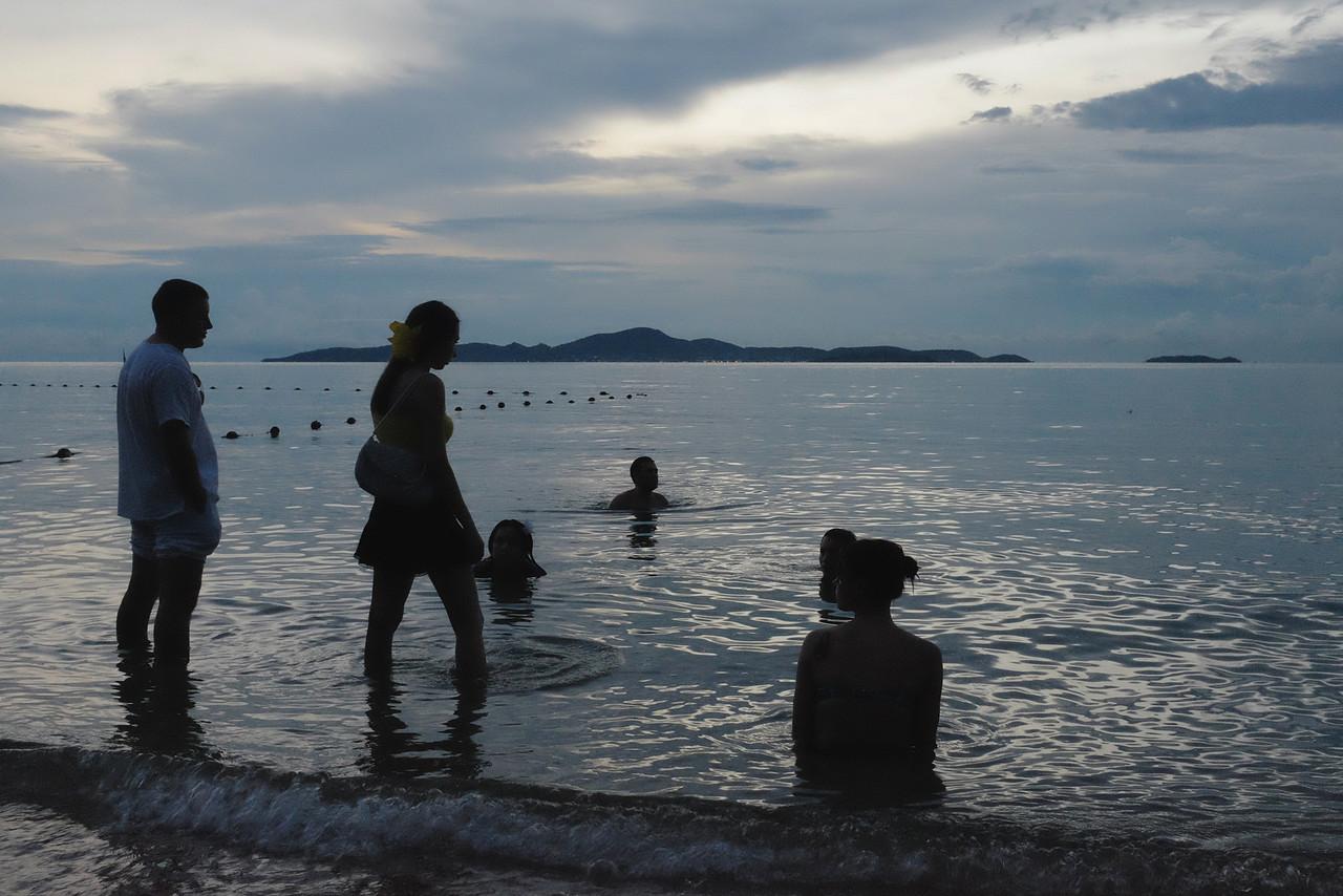 Evening in the ocean