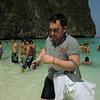 Maya cove: man with kitty bag
