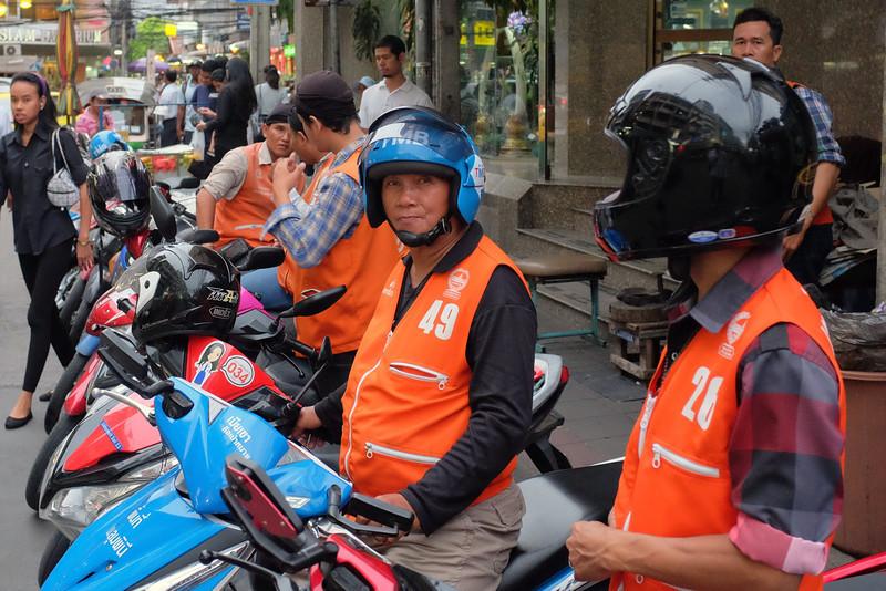 Moto taxis, Bangkok