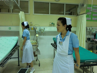 ER Nurses giving a tour