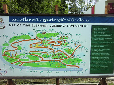 Thai elephant conservation center map
