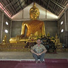 Large Ancient Buddha and me