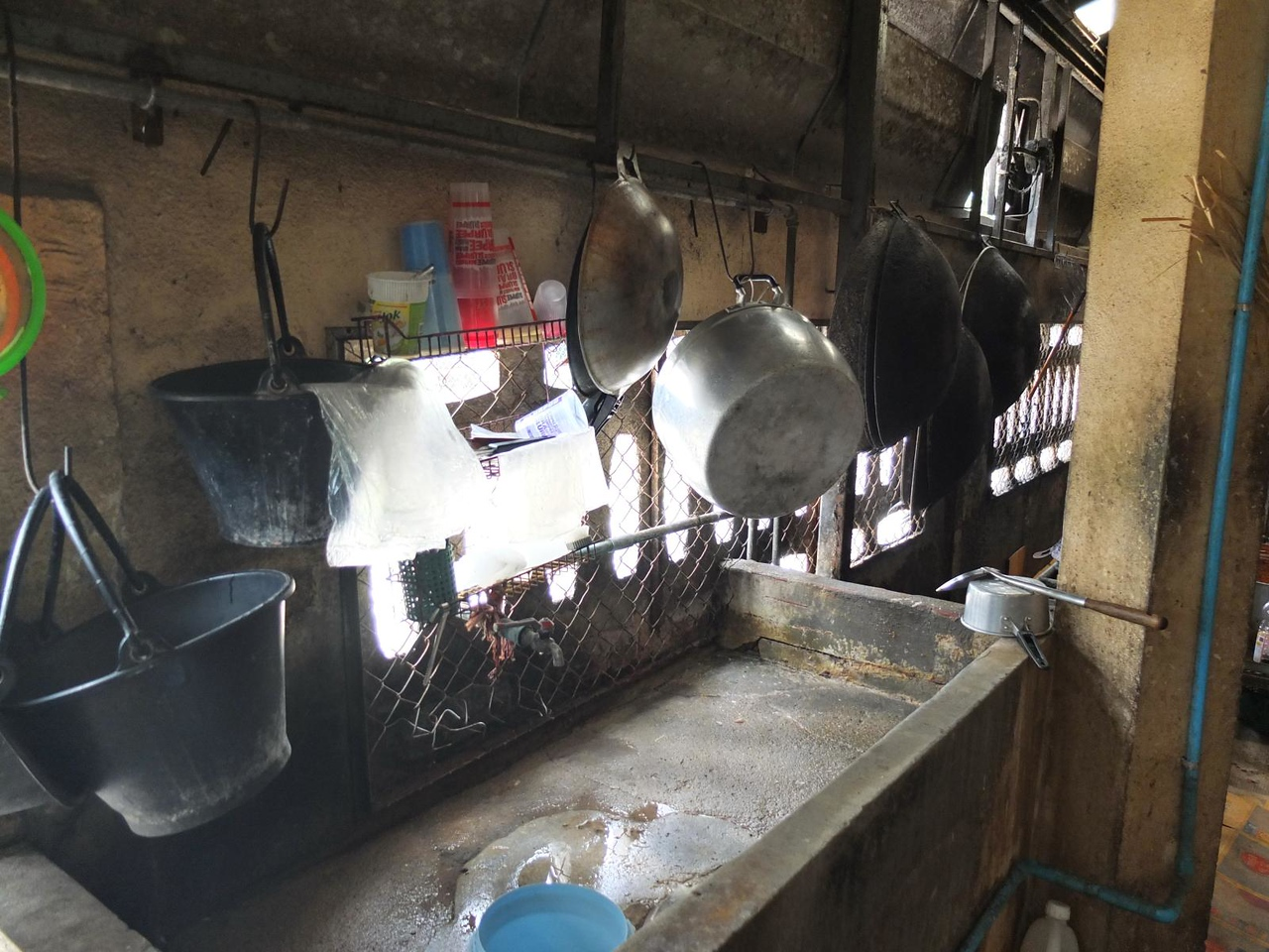 Inside the kitchen