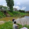 Net fishing in Chiang Mai