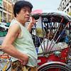 Lady and rickshaw