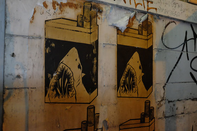 Shark cigs street art