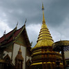 Chedi and temple sky