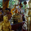 Buddhas and monk