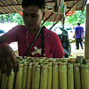 Sticky rice in bamboo: khao laam