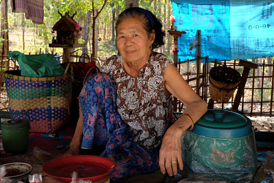 Vendor on road to Lamphun