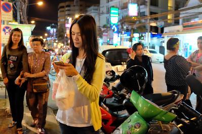 Texting on Nimmanhaemin Street, Chiang Mai