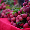 Today's photo from Thailand is of a bunch of lychee, a subtropical fruit native to SE Asia and China,  for sale at the Chiang Mai Saturday night market.