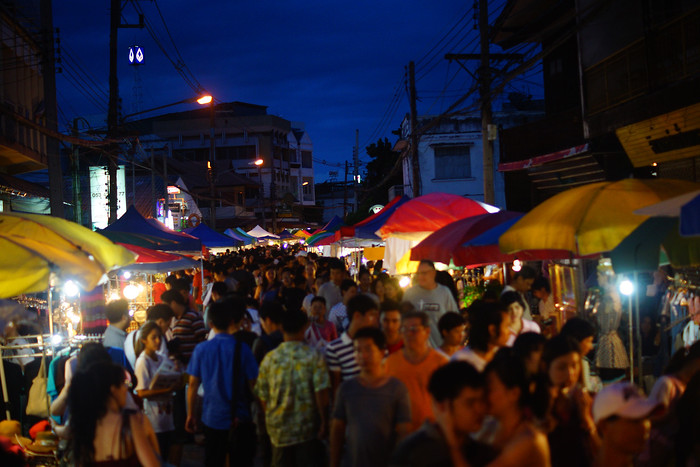 The Chiang Mai Saturday Night Market, Thailand.