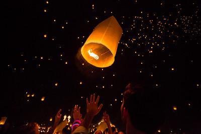 Yee Peng lantern festival - Chiang Mai