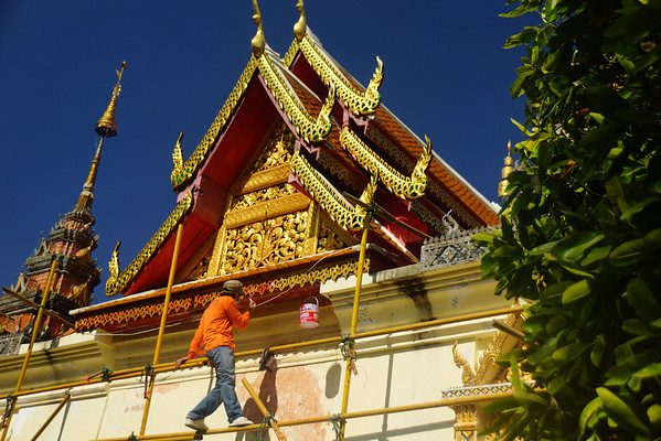 Construction going on at Doi Suthep Temple