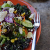 Mixed green salad with vegetables and cheese at Pun Pun restaurant in Chiang Mai, Thailand.