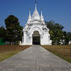 The entrance to Wat Suan Dok temple in Chiang Mai, Thailand.