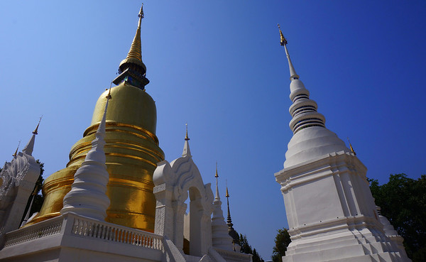 Visiting Wat Suan Dok temple in Chiang Mai, Thailand