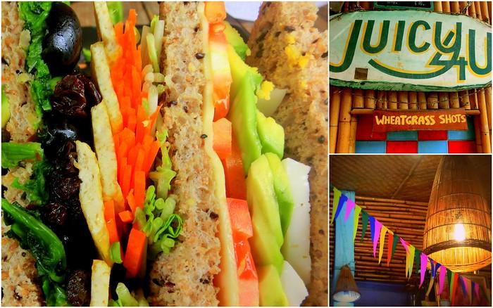 Vegetarian food at Juicy 4 U in Chiang Mai, Thailand.