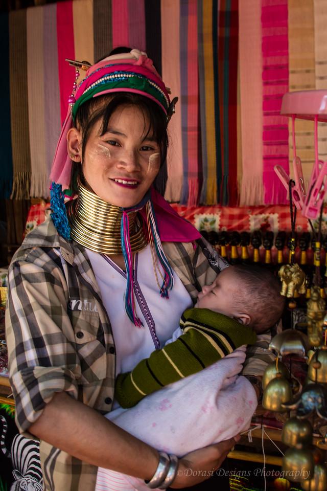 Karen Long neck tribe; proud mom