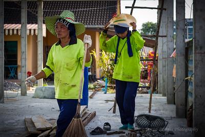 women construction workers; Phuket