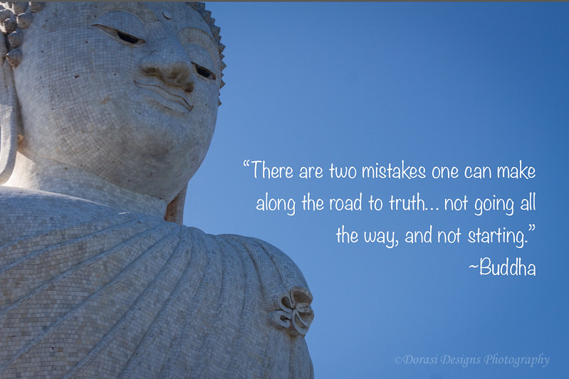 Buddha with quote