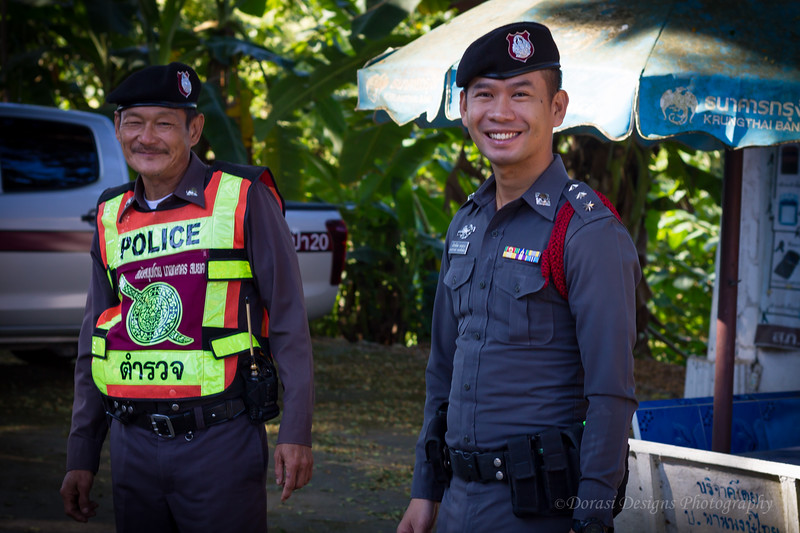 Happy policemen