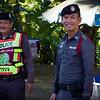 Happy policemen