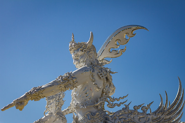 At the White Temple: Chiang Rai Thailand