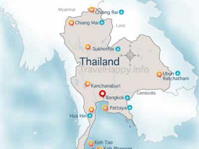 Thailand Map, image copyright CM