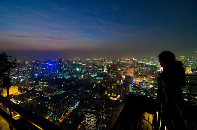 View from Vertigo Moon Bar, Banyan Tree Hotel, Bangkok, Thailand, 22 March 2012.