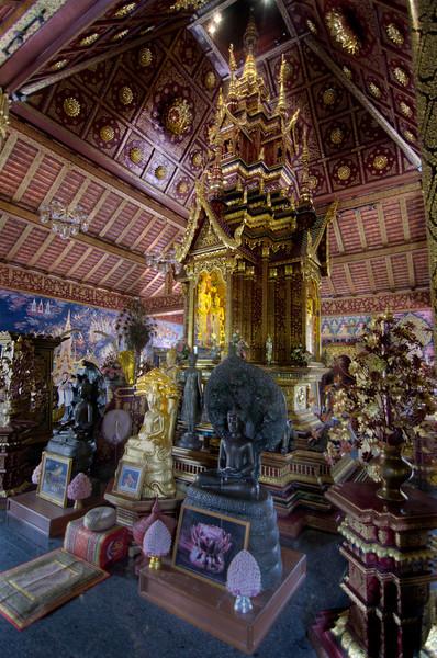 Buddha relics at Wat Pah Dara Priom, north of Chaing Mai, Thailand, 26 March 2012.