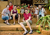 Matt Mills (centre) with (from left) Stuart Haggas, Bill Hansen, Davey Wavey Fan Page,Oscar Raymundo and the school kiddies at Long Neck Karen Village, Northern Thailand, 27 March 2012.