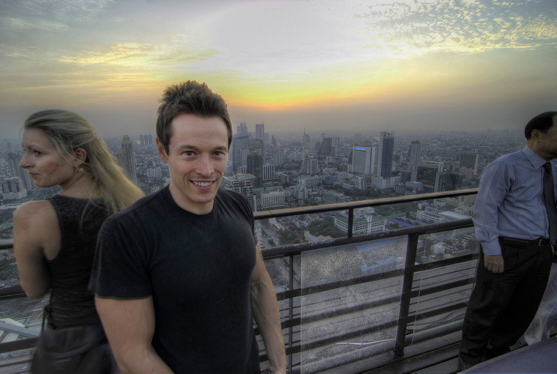 Dave, of Davey Wavey fame, at Vertigo Moon Bar, Banyan Tree Hotel, Bangkok, Thailand, 22 March 2012.