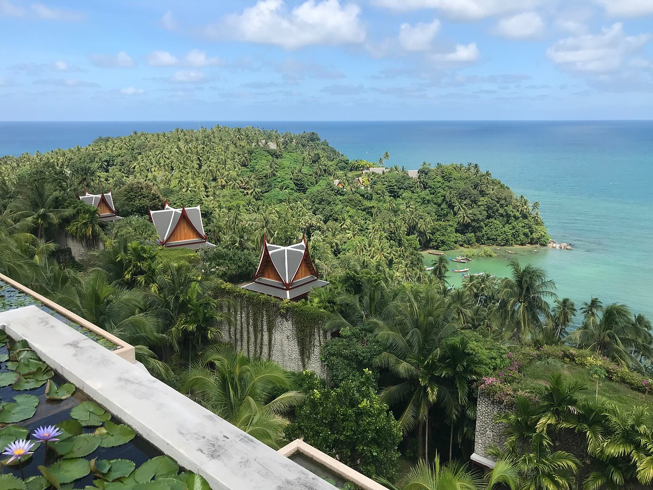 Panormaic view from villa 45