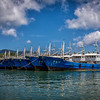 Chinese fishing boats laid up off the east coast of Phuket