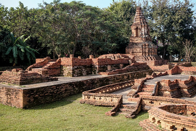 Wat Pu Pia, located in Ancient Lost City Wiang Kum Kam