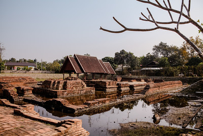 Wat Ku Padom, located in Ancient Lost City Wiang Kum Kam