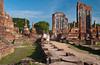 The ruins of the temple Wiharn at Wat Thammikarat in Ayutthaya, Thailand.