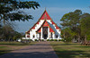 The Vihara of Phra Mongkhon Bophit temple in Ayutthaya, Thailand.