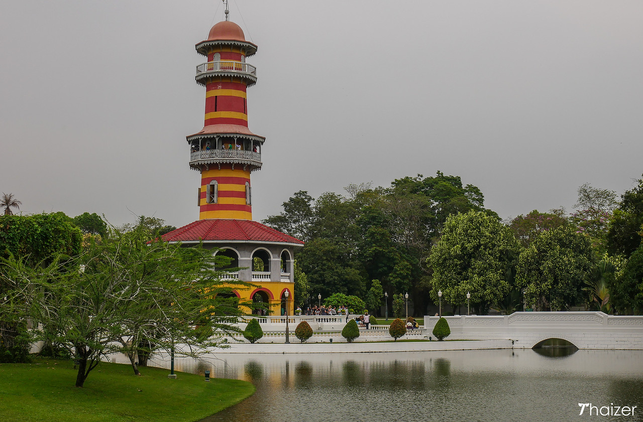 Ho Withun Thasana observatory tower at Bang Pa In Palace