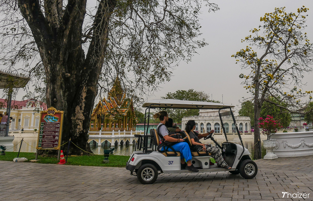 golf cart at Bang Pa-In Palace, Ayutthaya