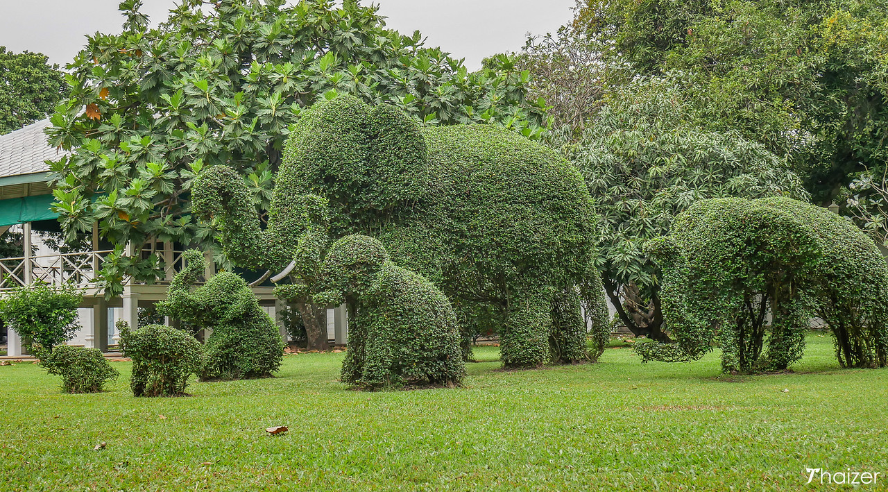 topiary elephants at Bang Pa In Palace, Ayutthaya