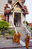 A small buddhist temple in downtown Bangkok, Thailand, Asia.