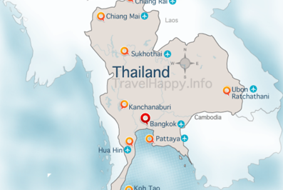 Thailand Map, image copyright CM